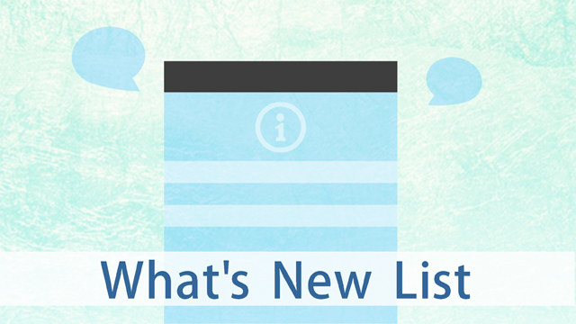 What's New List